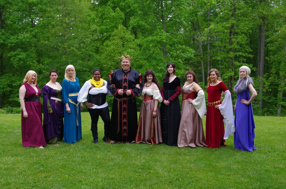 Aegon the Unworthy and his nine mistresses cosplay