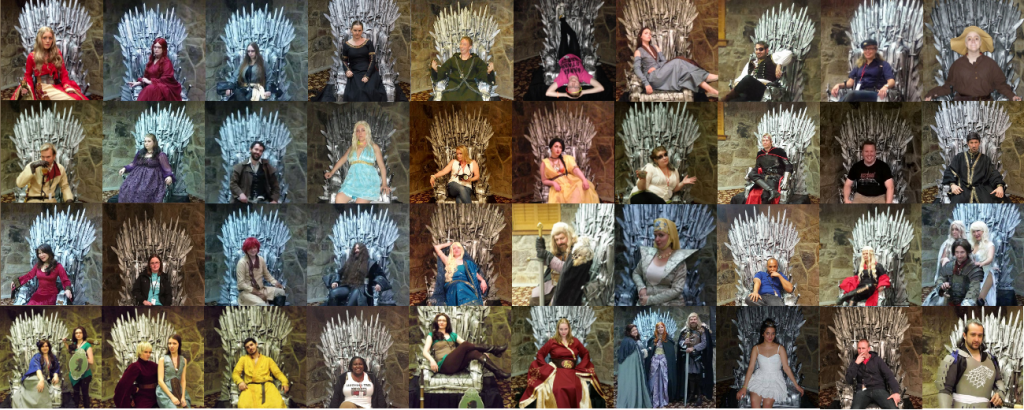 game of thrones cosplay Ice & Fire Con Iron Throne