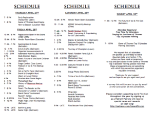 Ice and Fire Con 2017 Schedule