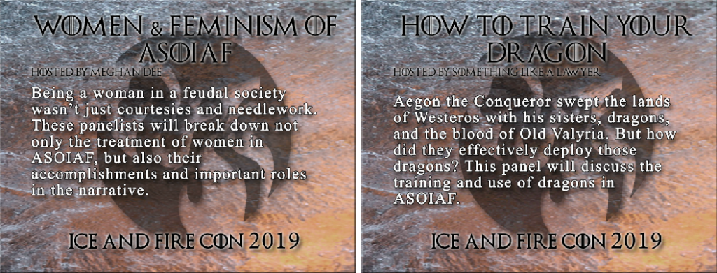 ice & fire con 2019 panels